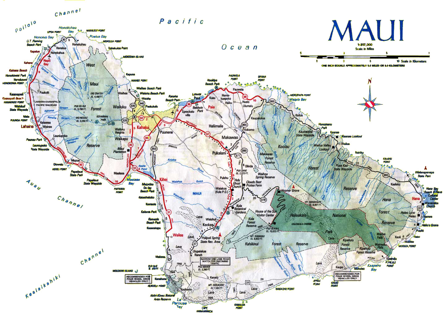 Maui Road Map Images Amp Pictures  Becuo